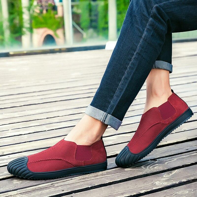 Thestron Winered Créateur Chaussures Marque Mocassins Noir 2019 Hommes red Décontracté Tendance De Black 5jqAc34RL
