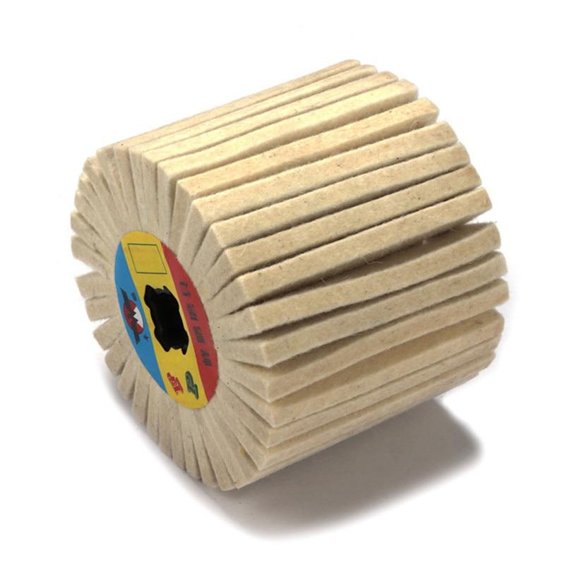 100mm X 100mm Fiber Abrasive Drawing  Wheel Cylinde Buffing Wheel For Metal Drawing Buffing