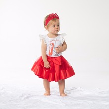 New 1-9 years Summer Birthday Girl Princess Dress New Fashion Party Wedding Toddler Baby Girls Clothes Children Kids Set 3Pieces