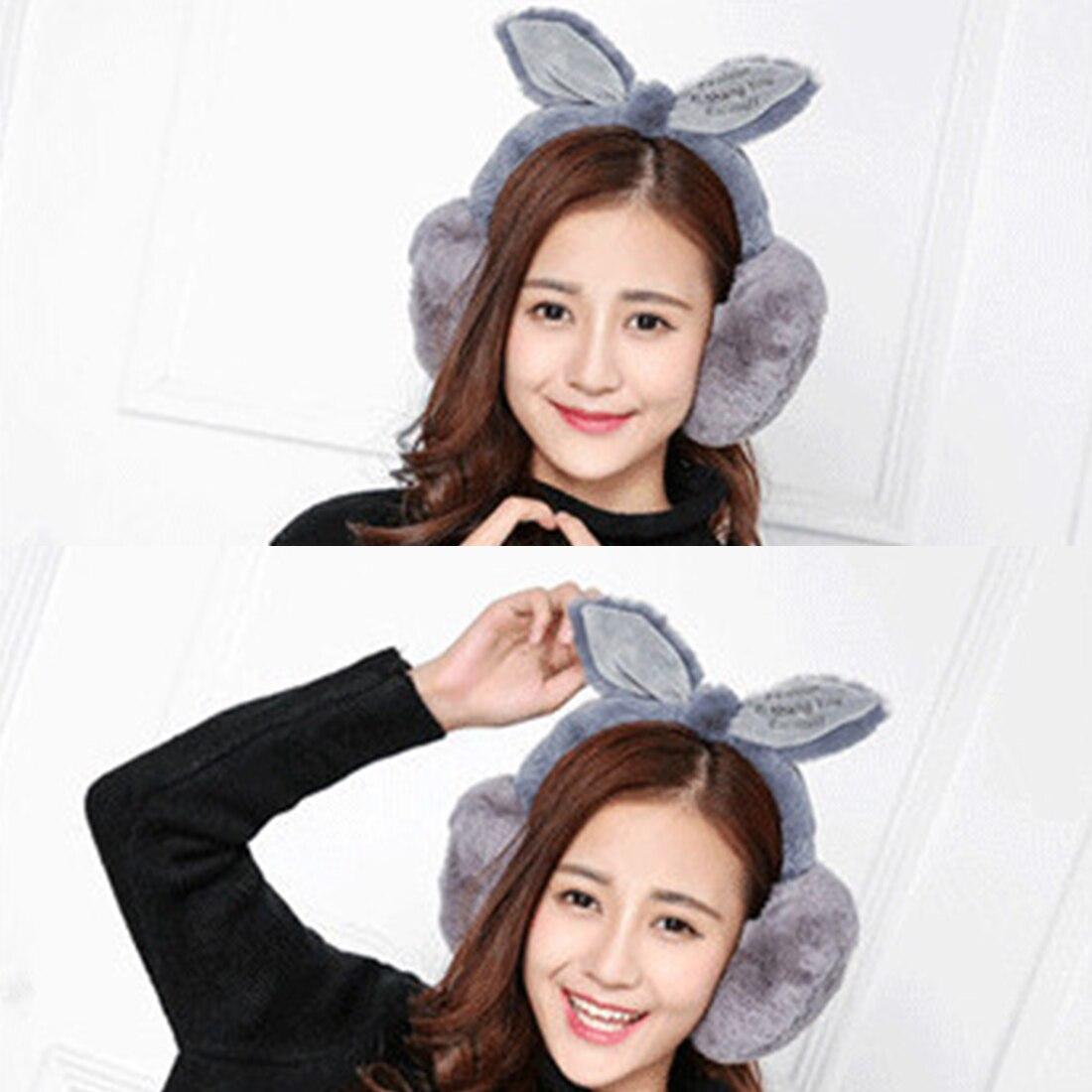 Charming Elegant Rabbit Fur Winter Earmuffs For Women Warm Earmuffs Ear Warmers Gifts For Girls Cover Ears