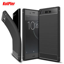 "For Sony Xperia XZ1 Case For Sony XZ1 Case Cover Luxury Carbon Fiber Soft Silicone Back Cover Case For Sony Xperia XZ1 Case 5.2""(China)"