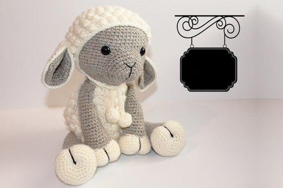 Haak schapen baby douche kamer versieren rammelaar speelgoed en pop 4