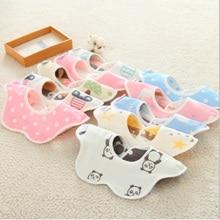 Multi-color Newborn Baby Bibs & Burp Cloths 360 Degree Cotton  Kids Saliva Towel Infant Feeding Cloth Bib