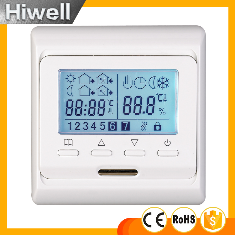 Weekly programmable thermostat digital thermostat for floor heating mat heating film heating cable heating panel SWITCH valve radiator linkage controller weekly programmable room thermostat wifi app for gas boiler underfloor heating