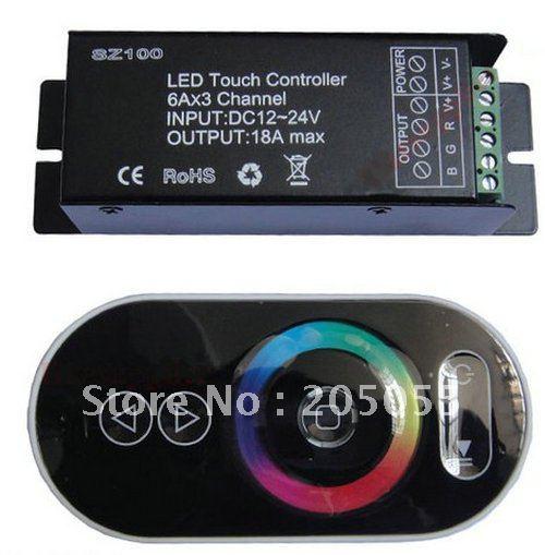 Радиочастотный беспроводной кнопочный светодиодный RGB пульт дистанционного управления DC12V сенсорный контроллер