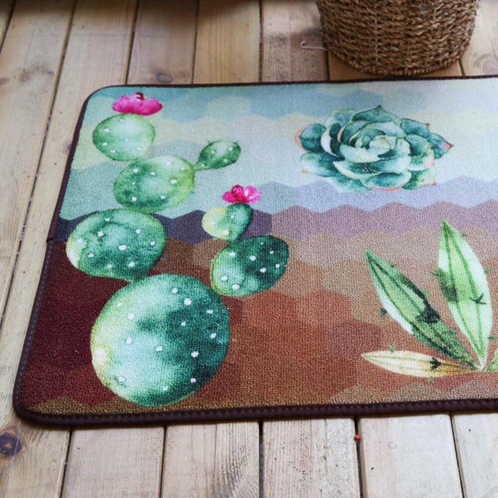 Pastoral Pintada Cactus Casa Capacho Tapete E Carpet Para Sala De  -> Tapete De Sala Pintado