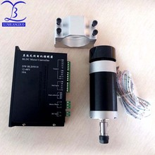 500W DC Brushless Spindle ER11 DC0-48V Spindle Motor Carving With Fan +12-48V DCBrushless Motor Driver Controller цена
