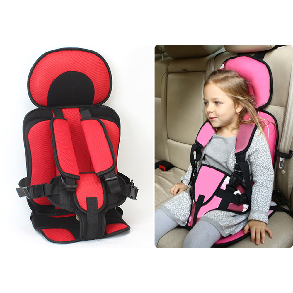 Children Chairs Cushion Baby Safe Car Seat Portable Updated Version Thickening Sponge Kids 5 Point Safety Harness Vehicle Seats