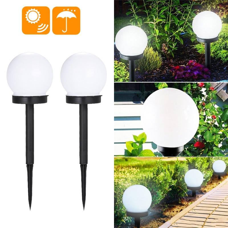 DIDIHOU Solar Lawn Lights Garden Lamp Yard Pathway Light Outdoor Landscape Lighting LED Bulbs