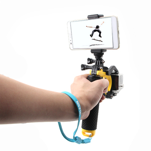 Image 5 - TELESIN قبة ميناء غطاء عدسة الإسكان حالة العائمة مقبض قبضة بوبر ل GoPro بطل 5 6 بطل 7 عمل كاميرا الملحقات