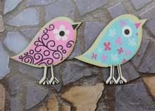 100 шт большие милые деревянные кабошоны для влюбленных птиц