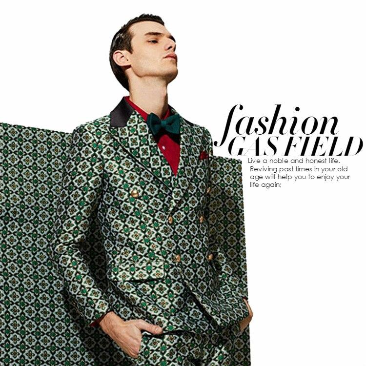 De haute qualité hommes de costume sac kelly grand or Trèfle G tissus jacquard Europe et les États-unis robe tendance jupe f