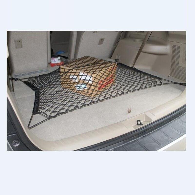 Pratique Nylon Stretch Bagages Net Bagages Filets Pour toutes les voitures fixe Réseau 70x70 cm De Voiture Tronc Bagages Plateau D'empilage Net