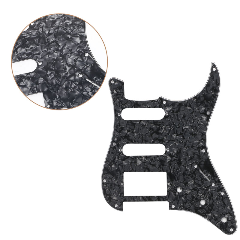 Electric Guitar Pickguard Scratch Plate for Fender Stratocaster Black Pearl