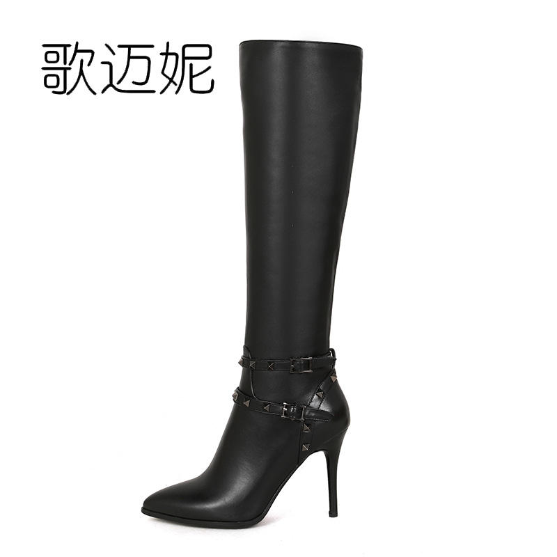 winter shoes knee high boots women winter boots botas mujer botines mujer 2017 schoenen vrouw bottes femme ladies boots цены онлайн
