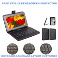 3-IN-1 Stylus+Film+Keyboard for Prestigio MultiPad 4 PMP7100D 3G PMP7100D3G 10.1 inch Tablet Micro USB Keyboard Case Cover