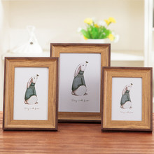 1 pices American Photo Frame Set Simple Creative 10 Inch 8 - 7- 6- 5 A4 Wall Wedding Picture Home Decoration