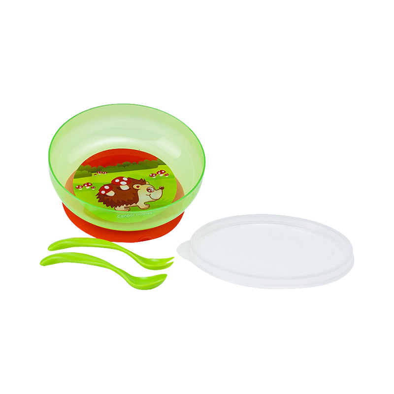 Dish Canpol Babies Bowl on the sucker Green, 9 month + feedkid msr deep dish bowl