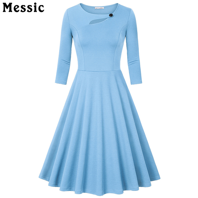 Messic Hollow Out Women Dress Sexy 3/4 Sleeve Casual Bodycon Dress Female New Design Womens Party Night Club Pleated Mid Dresses