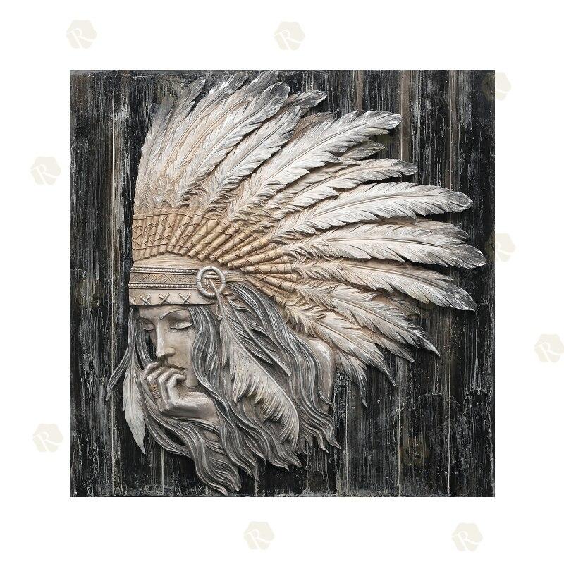 Peintures acryliques décoratives d'art de mur de peintures à l'huile indiennes sans cadre sur le bois pour le salon