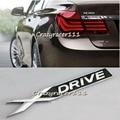 1 Unid 3D Del Metal del Cromo XDRIVE Emblema Etiqueta Engomada Del Logotipo Insignia Decal Decoración En Forma Para BMW