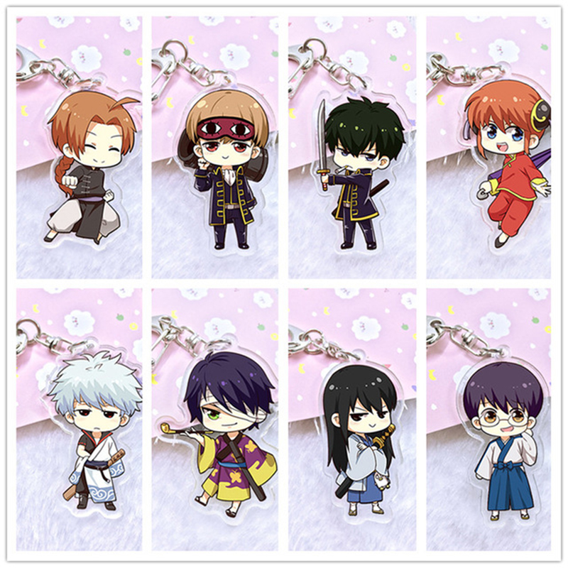 Gintama  Sakata Gintoki key chain key chains cute chains 5 choise pendant toy