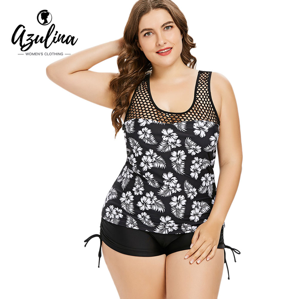 941b025072 Detail Feedback Questions about Rosegal Plus Size Racerback Flower Print  Women Set Summer Holiday Beach Wear U Neck Sleeveless Tank Top Boyshort Two  Piece ...