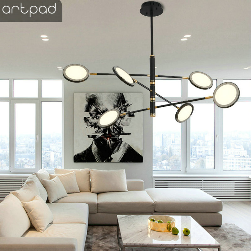 Nordic Designer Art Ceiling Lamp 360 Degree Rotatable Adjustable Ceiling Light LED Lighting for A Bedroom Living Room Dining in Ceiling Lights from Lights Lighting