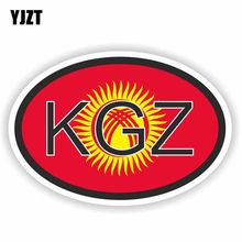 YJZT 12.9CM*8.6CM Kyrgyzstan KGZ Country Code Windows Car Sticker Reflective Decal 6-0236(China)
