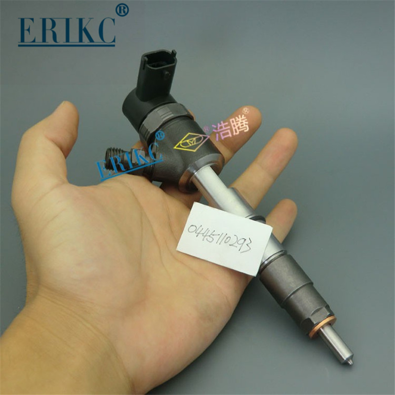 ERIKC 0445110293 Diesel Fuel Injectors 0 445 110 293 Common Rail Parts Excavator Inyector Nozzle 0445 110 293 Diesel Spry Parts defute original 0445110293 common rail injector assembly built in f00vc01359 valve components dlla150p1666 diesel nozzle