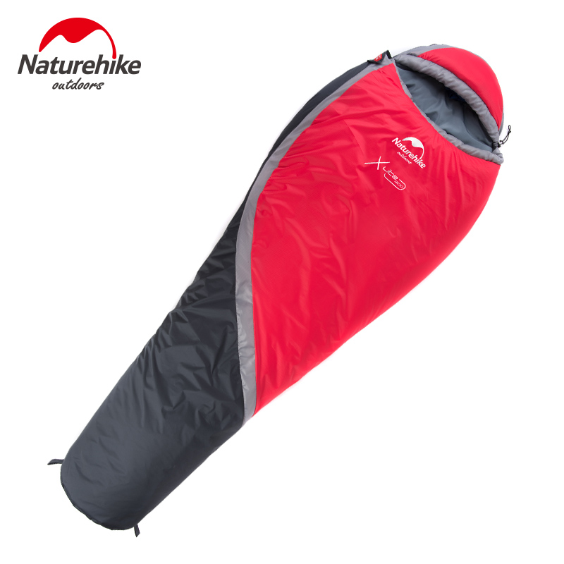 Naturehike Winter sleeping bags Outdoor Camping hiking Mummy 190T Polyester Waterproof NH Ultralight sleeping bag 220*83cm naturehike waterproof mummy camping sleeping bag cutton lining winter outdoor ultralight warmth camping sleeping bag nh15s013 d