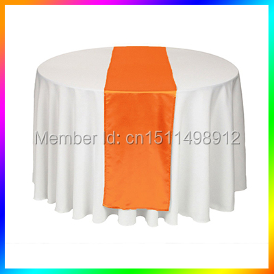 Beau Free Shpping Stain Table Runner 20Pcs Orange Color Table Clothes For  Wedding Table Decoration