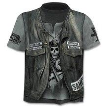 Прямая поставка, летняя новая забавная 3d футболка с черепом, летние хипстерские футболки с коротким рукавом, мужские/женские футболки с аниме рисунком, мужские топы с коротким рукавом