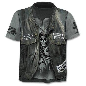 Drop Ship Summer NewFunny skull 3d T Shirt Summer Hipster Short Sleeve Tee Tops Men/Women Anime T-Shirts Homme Short sleeve tops