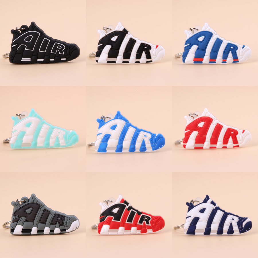 Keychain Mini Silicone AIR Shoe Key Chain Woman Men Kids Gift Key Ring Basketball Sneaker Porte Clef