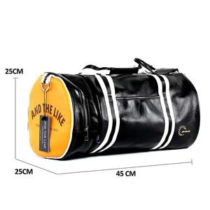 Image 3 - トップ男性旅行荷物独立したシューズバッグ収納女性フィットネスバッグpuレザー印刷バスケットボールトレーニングバッグXA253WC