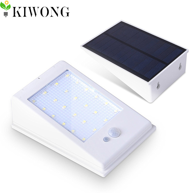 400LM LED Solar Lights Outdoor Solar Powered Lamps Waterproof Motion Sensor  Light Lamp For Deck Yard