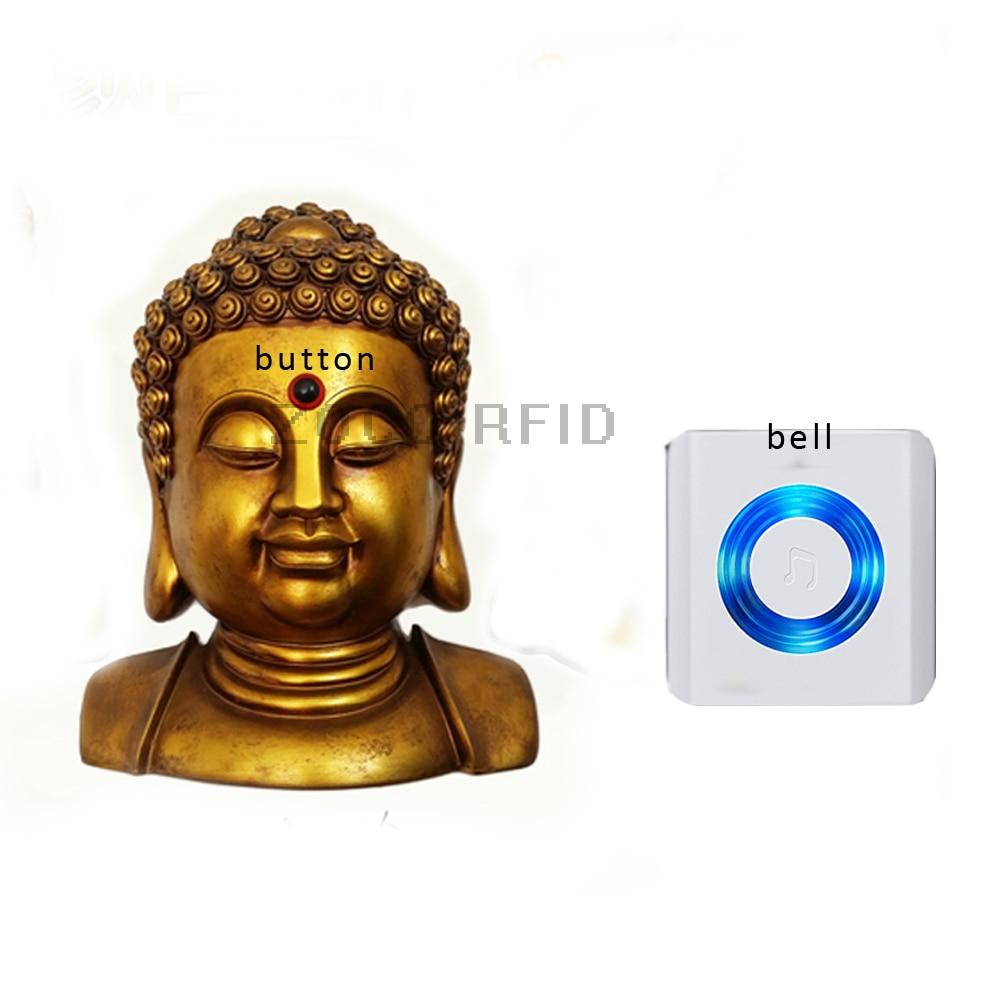Figure of Buddha style waterproof button Music Home Waterproof Doorbell AC-220V  Wireless Door Bell buddha volume 1