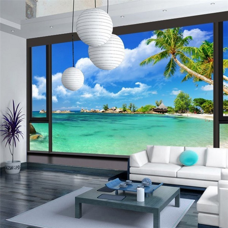 customize 3d photo mural wallpaper Chinese painting landscapes map ...