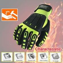 Высококачественные ударно поглощающие перчатки, ударопрочные и устойчивые к порезу перчатки для безопасной работы