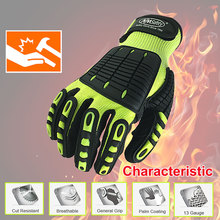 NMSafety High Quality Gloves Shock Absorbing Mechanics Impact and Cut Resistant Anti Vibration Safety Work Glove