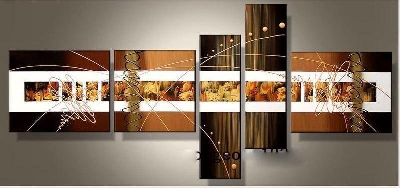 ღ ღPared al óleo pintada a mano arte color abstracto de oro del ...