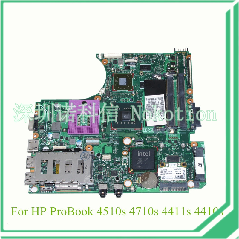 NOKOTION 583077-001 for hp probook 4510S 4710S 4411S Laptop motherboard PM45 DDR3 ATI graphics 574680 001 1gb system board fit hp pavilion dv7 3089nr dv7 3000 series notebook pc motherboard 100% working