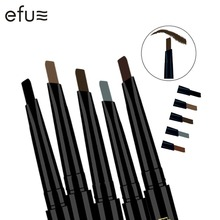 1Pc EFU Lotus Series New Arrival 5 Colors 24 Hours Long-lasting Eyebrow Pencil Soft and Smooth Fashion Eye 0.4g #7046-7050