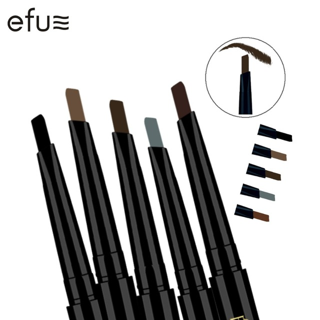 5 Colors 24 Hours Long-lasting Eyebrow Pencil Soft And Smooth Fashion Eye 0.4g Lotus Series Makeup Brand EFU #7046-7050