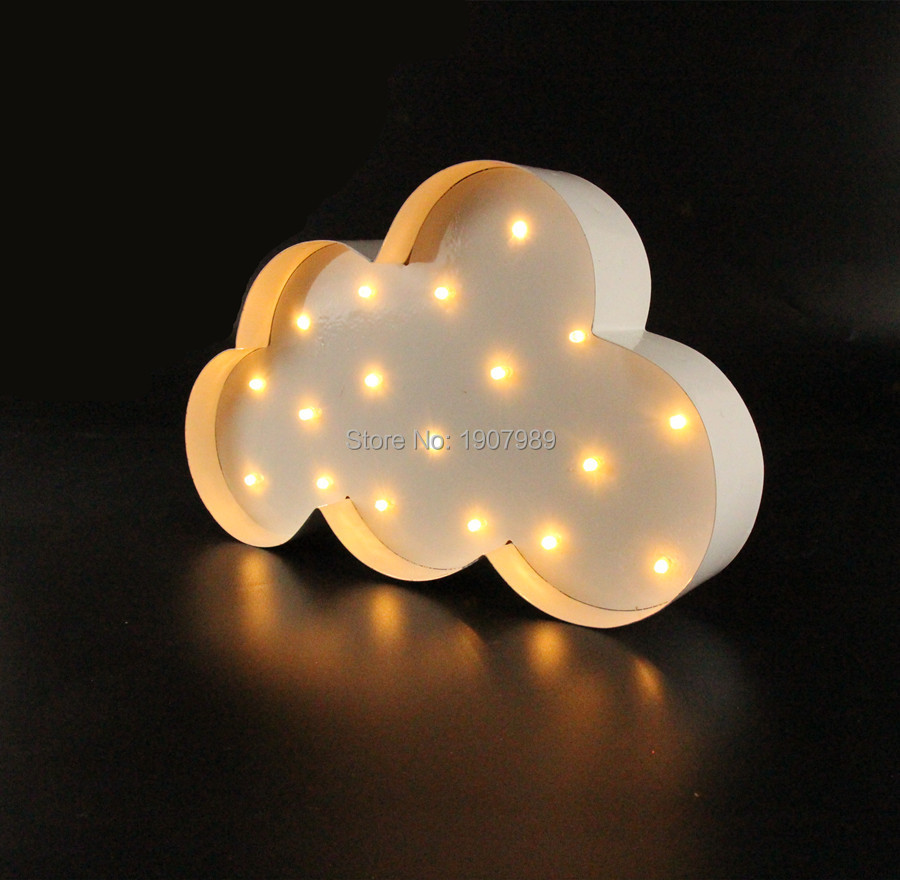 White Cloud LED Marquee Sign LIGHT UP  Vintage metal night light  - Night Lights - Photo 2