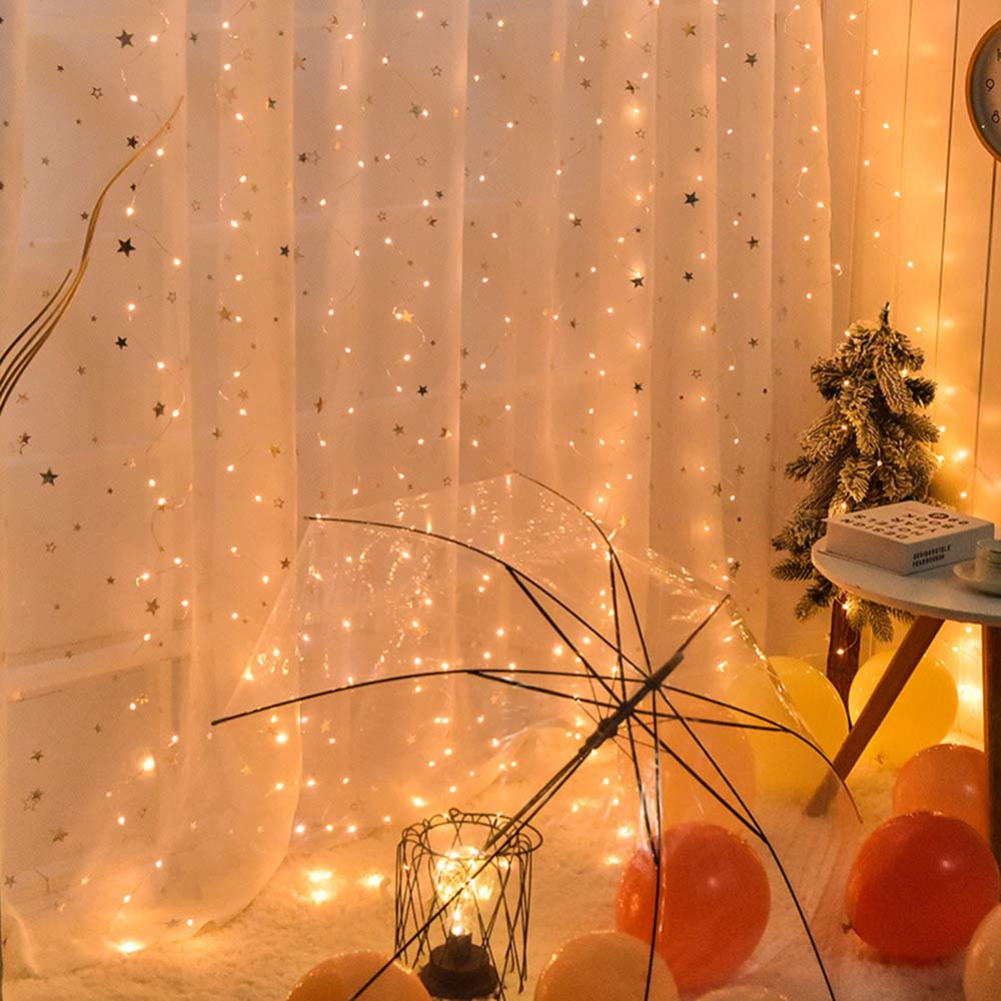 3Mx3M 300LEDS Fairy Led String Light With Memory Function For Christmas Party Garland Curtain Wedding Decoration Twinkle Lights