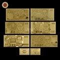 ТАИЛАНД БАТ ЗОЛОТО БАНКНОТЫ Набор Sammlerstuck Geschenkidee 999 Золото Geldschein-10, 20,50, 100,500 Baht