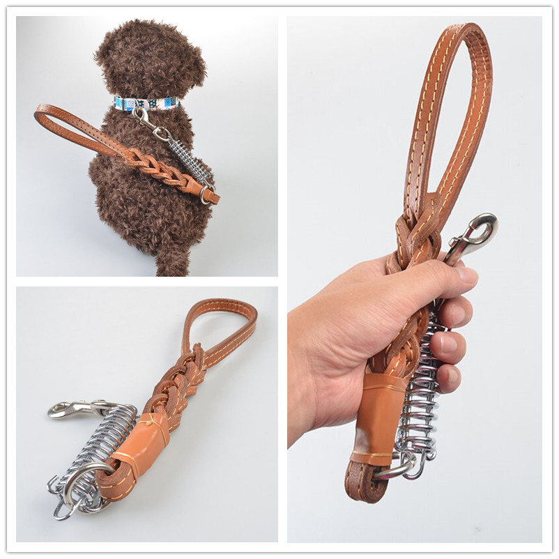 B34 Explosion proof pet leashes dog traction rope for medium large dogs leather durable pet leashes
