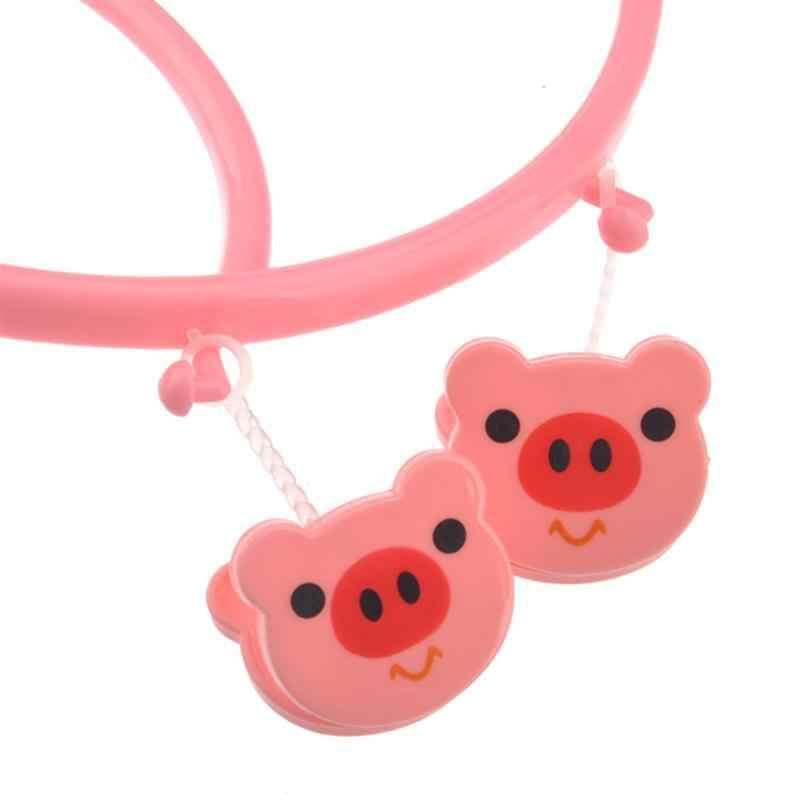 OUNONA Розовый куб мультфильм поросенок Стиль 8 клипы Круглый Пластик Сушилка Одежда Носки вешалка